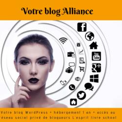 Votre blog WordPress paramétré + votre hébergement annuel + Votre réseau social privé de blogueurs